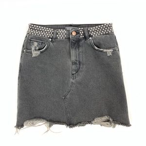 DL1961 Destroyed Metal Studded GEORGIA Mini Skirt